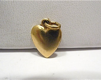 Vintage Gold Filled Heart Charm 8 x 10 mm   .7 mm #3