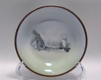 "Royal Vistas Ware Nautical Transfer Bowl Plate by Ridgways - ""Cromarty"" Souvenir Series"