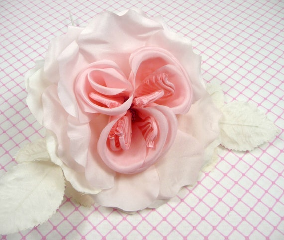 Clearance Sale Silk Rose Large Millinery Flower Light Pink