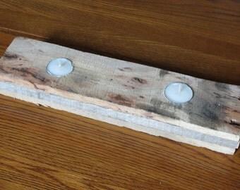 Pallet Tea Light Candle Holder