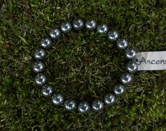 Child's Natural Pyrite - Therapeutic Quality Gemstone Bracelet for Healing 8mm