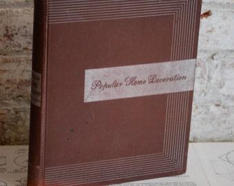 Vintage Book, Popular Home Decorating