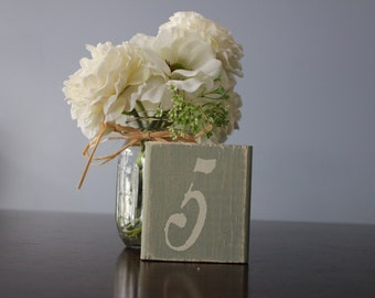 Rustic Table Numbers , Shabby Chic Table Numbers Wedding Decor Set of 13