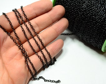 330 Feet  (100 meters) Black Chain 2 mm Circle ,Thickness of wire 0.4 mm Chain