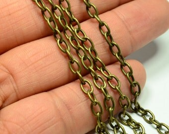10 Meter -32,8  Feet  Antique Bronze 4x6 mm Oval  Chain