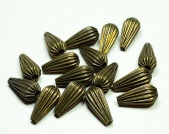 12 Pcs Antique Bronze  5x14 mm  Drop Shaped Vintage ,Jewelry Components