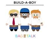 BUILD A BOY Printable Paper Bag Puppet Cut Outs