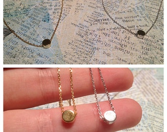 Circle Necklace, Disc Necklace, Minimalist Necklace, Celebrity Necklace