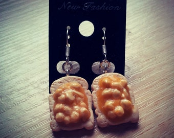 Beans on Toast Dangle Earrings