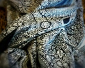 Large Paisley Scarf Pashmina Scarves Black Women Fashion Accessories Gifts Ideas for Her