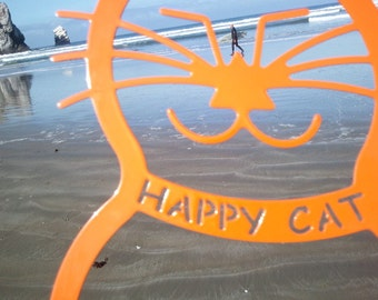 Happy 4th of July Cat Garden Stake Beach and BBQ