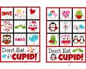 INSTANT DOWNLOAD Valentines Day - Don't eat CUPID Games Printable Download - Fun Family Party diy game