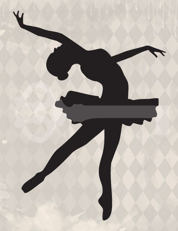 Lively image throughout ballerina silhouette printable