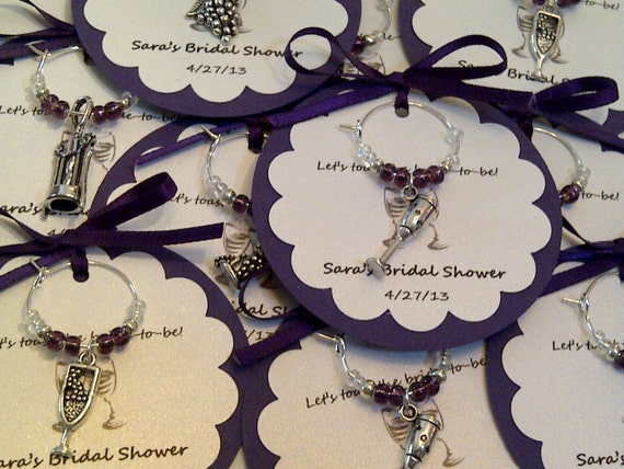 Bridal Shower Wine Glass Charms