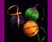 Mardi Gras Ornament (Set of 3)