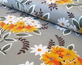 Flea Market Fancy bouquet grey cotton fabric 1 yard