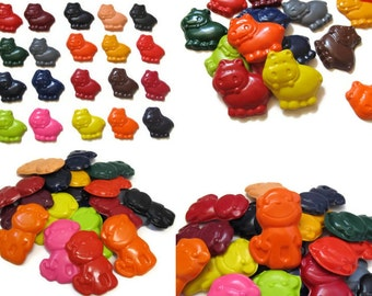 Monkey and Hippo Crayons set of 40 - party favors