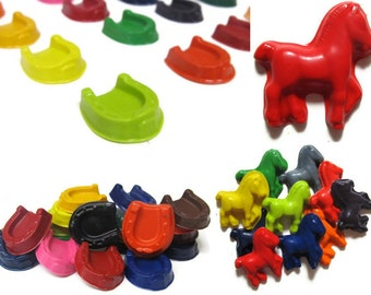 Horse and Horseshoe Crayons set of 20 - party favors