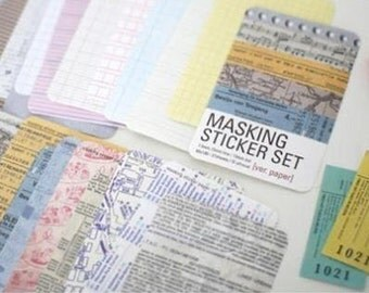 Ver. Paper Masking Sticker Set - Labels. Metal Tin Set. Patterned Papers. Gift Wrapping. Scrapbooking. Parties. Weddings. DIY Note