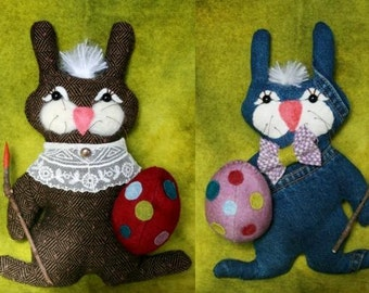 Instant Download E-Pattern Belindy and Bo, Our Recycled Bunnies