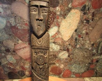 Vintage Carved Wooden Monk Priest Italy