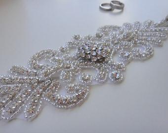 Bridal Sash, Bridal Belt, Swarovski Crystal Bridal Belts, Bridal Sash Belt, Vintage Bridal Sash, Wedding Belt, Rhinestone Bridal Belt, 1920s