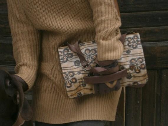 Everyday Clutch, Flowered Clutch, Handmade Clutch, Handmade Genuine Leather Bag, Hand Clutch, Brithday Gift, Made to Order