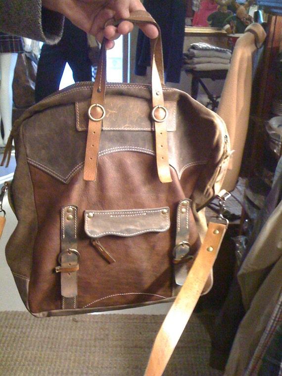 Brushed Leather Messenger Bag, Full Grain Leather Handmade Bag,15 inch Laptop bag, Leather Laptop Bag, Made to order Bag