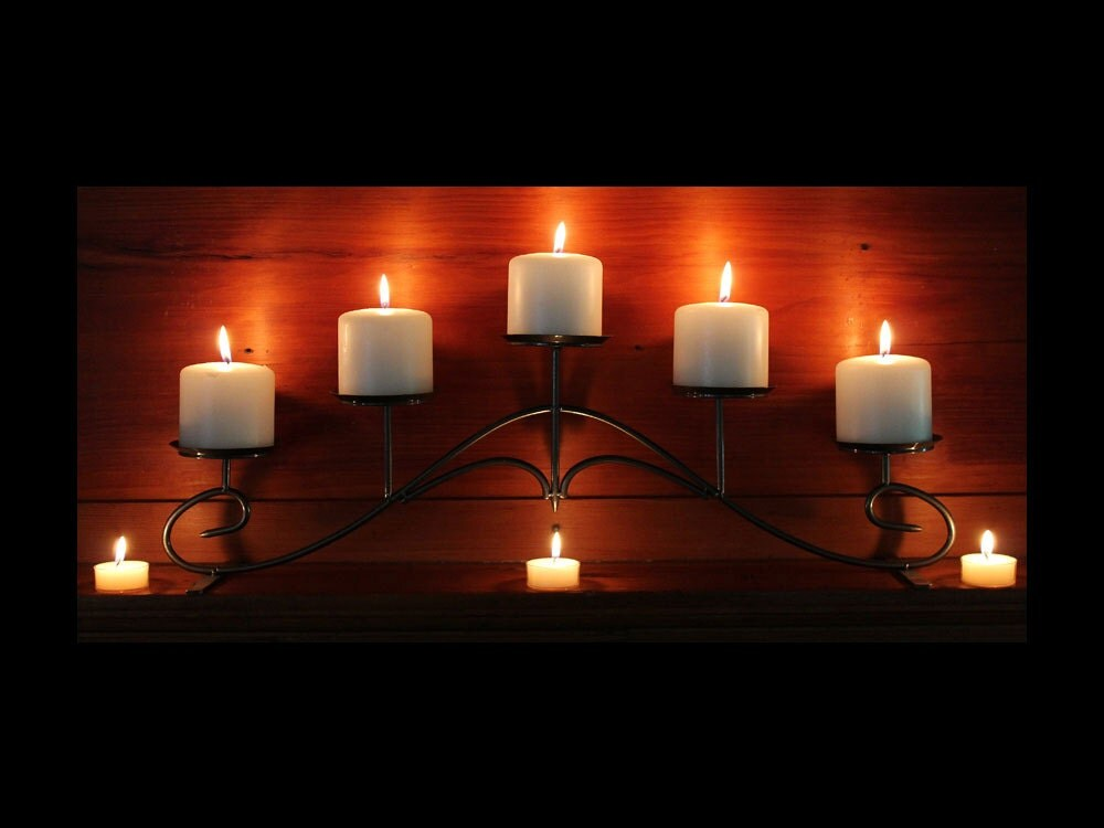Fireplace Design candelabra fireplace : Fireplace Candelabra in metallic charcoal color for