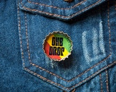 One Drop Upcycled Bottle Cap Rasta Button