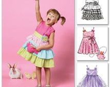 McCalls 6496 Easy Childs Easter Dress Pattern, Size 6-7-8, DIY Easter Dress
