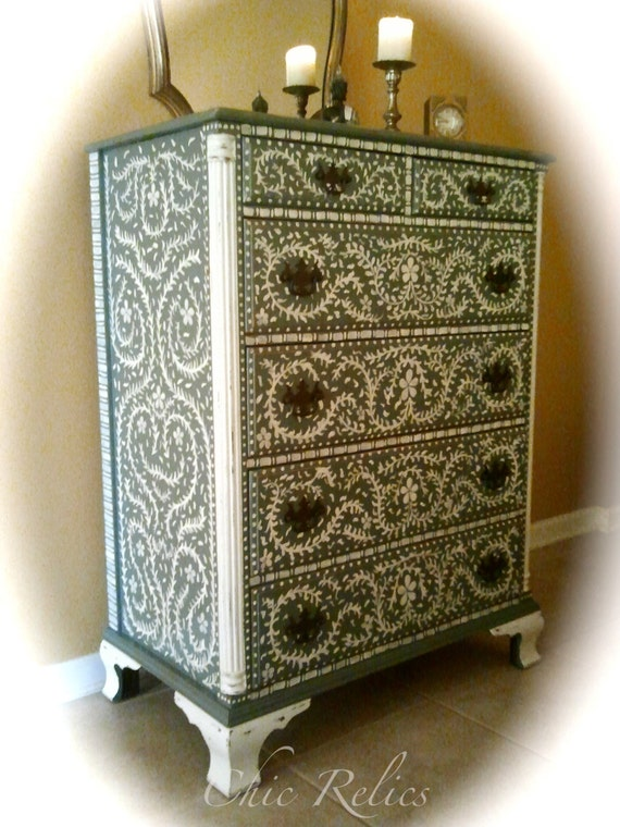 hand painted chest of drawers designs 2