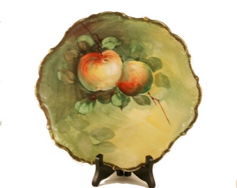 Antique Vintage Plate Peach Tree Design