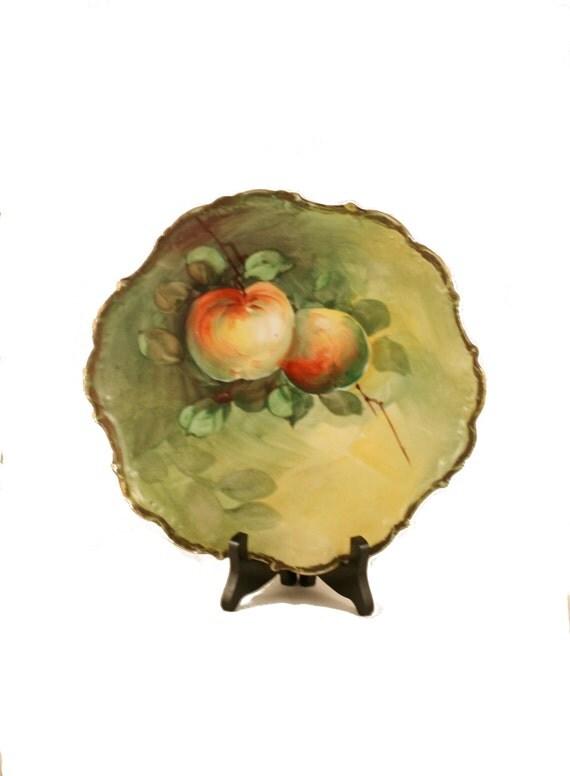 Antique vintage plate peach tree design for Peach tree designs