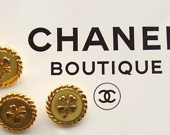 GOLD CHANEL BUTTONS  set of two
