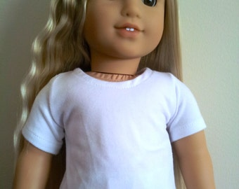 Solid White T-Shirt for 18 inch dolls (Create Your Own Design)