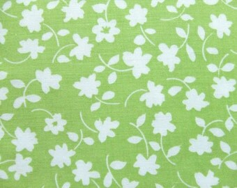 Waverly Fabric Lime Green Flowers Melissa Pattern 3 Yards