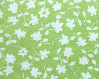 5 Yards Waverly Lime Green Flowers Melissa Pattern