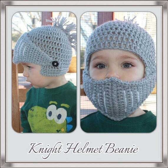 Pdf Crochet Knight Helmet Beanie Pattern. Newborn - Adult Sizes ...