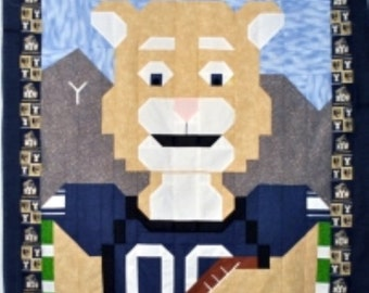 Football Cougar Quilt Pattern