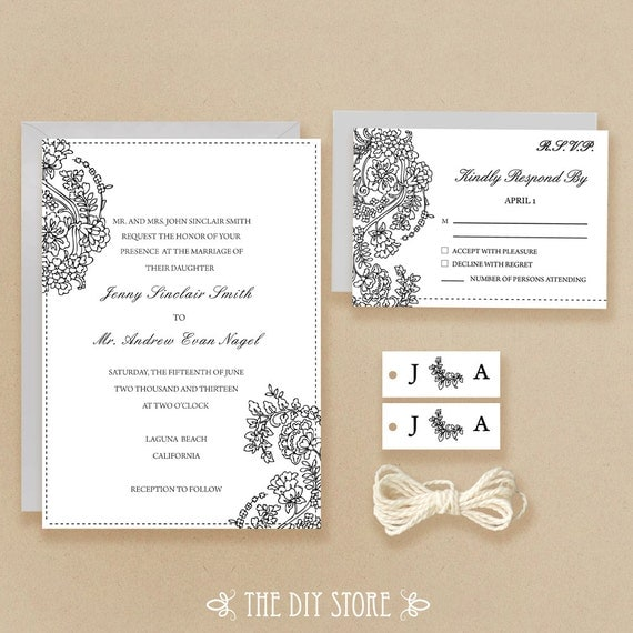Unavailable listing on etsy for Digital wedding invitations with rsvp