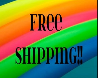 Free Shipping!! Neon Colored PolyPro Practice Hula Hoop - You pick the size -