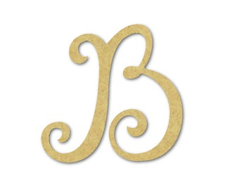 Large wooden letters b unfinished unpainted decorative for Big wooden letter b