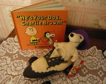 Vintage He's Your Dog Charlie Brown 1st Ed. and Snoopy Putt Pup 1968