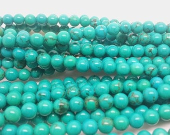 """16""""  Natural  Turquoise   Gemstone  Beads Bead --- 4mm"""