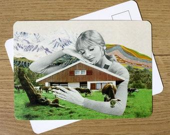 Postcard - collage retro