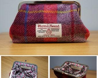 Harris Tweed Clasp Purse Handmade in Scotland