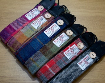 Harris Tweed Guitar Strap Handmade to Order in Scotland