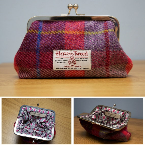 Harris Tweed Clasp Purse Handmade in Scotland