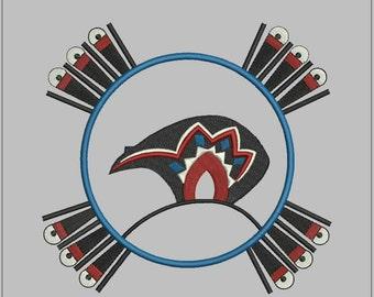 Bear Spirit. Design for embroidery machine. 183mm/175mm. Bear Totem for man shirt. Embroidery design